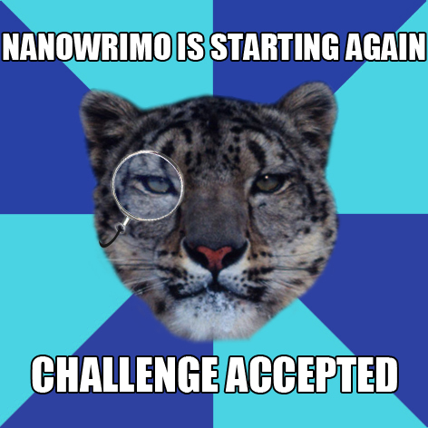 nanowrimo writer leopard