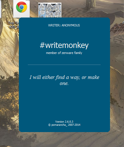writemonkey splash screen 2