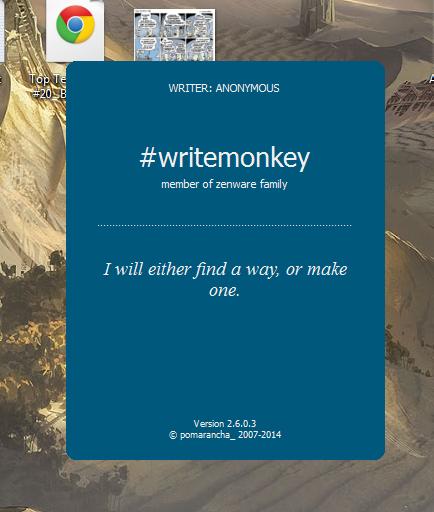 writemonkey splash screen 2