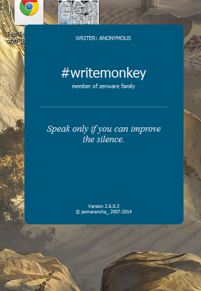 writemonkey splash screen