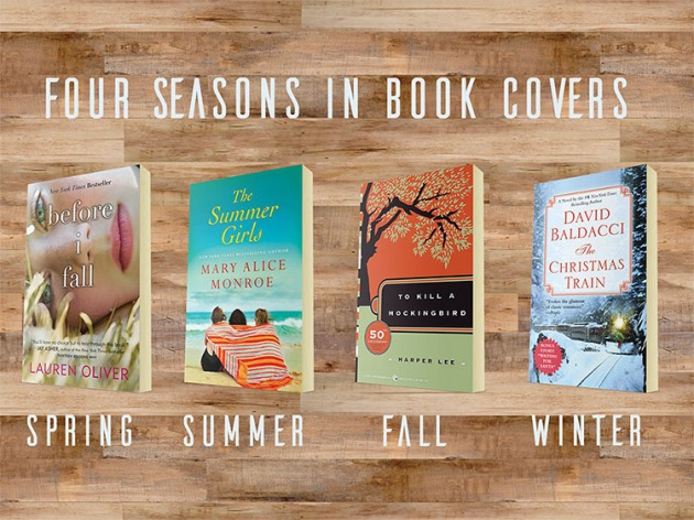 four seasons in book cover challenge bout of books
